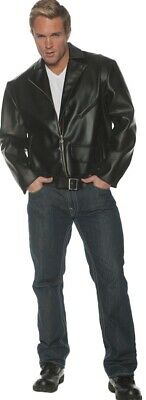 £67.22 • Buy Greaser Adult Men's Black Faux Leather Jacket Grease Danny 50s T-Birds Halloween