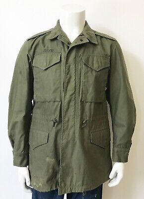 $145 • Buy VINTAGE MILITARY US ARMY M-51 FIELD JACKET Size SMALL REGULAR With PATCHES