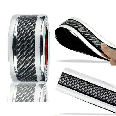 $16.19 • Buy Accessories Carbon Fiber Car Sticker Door Plate Cover Anti Scratch Protect Parts