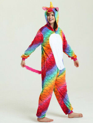 AU29.99 • Buy Rainbow Unicorn Unisex Kigurumi Animal Cosplay Costume Onesie28 Pajama Sleepwear