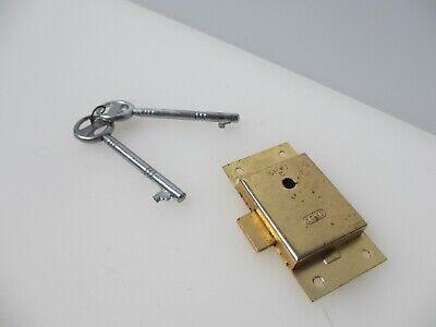 £5 • Buy Gold Metal Cabinet Lock Cupboard Chest Drawer Bolt 2 Key Iron NEW / REPRO