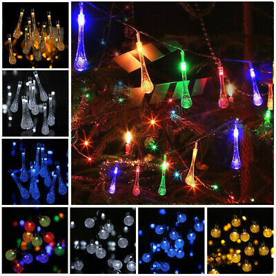 Solar Powered Fairy String Lights LED Wedding Party Garden Patio Decor 8 Modes • 8.99£