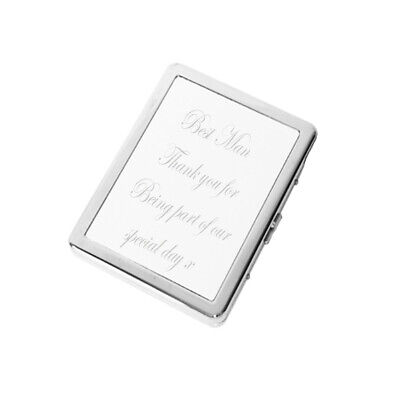 £7.99 • Buy Personalised Engraved Cigarette Case Tin Box Wedding Gift Birthday Any Message