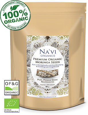 £4.45 • Buy Certified Organic Premium Moringa Seeds - Non-Irradiated And Highest Quality