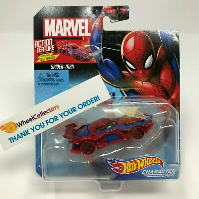 Spider-Man W/ Web Shooter * 2019 Hot Wheels MARVEL Character Cars Case M • 7.99$