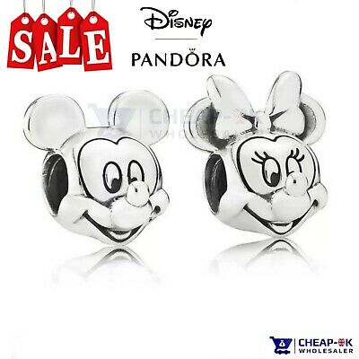 PAIR DISNEY PANDORA Mickey & Minnie Mouse Charm S925 ALE STAMPED AUTHENTIC GIFT • 18.99£
