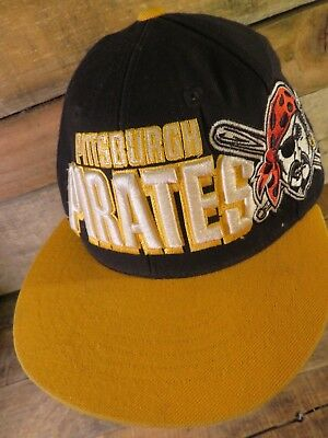 Pittsburgh PIRATES Raiser Letters Embroidered Snapback Adjustable Adult Hat Cap • 3.68£