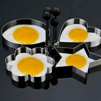 Stainless Steel Cooking Fried Egg Pancake Ring Mould Mold Shaper Kitchen Tool • 2.99£