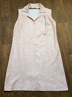 AU62.39 • Buy 1970s Plus Size Vintage Pale Pink Smock Dress UK Size 18, Vintage Clothing