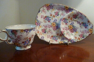 $ CDN76.94 • Buy Rare Royal Winton Grimwades English1950's Cotswold Pattern Teacup & Snack Plate
