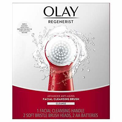 AU34.64 • Buy Facial Cleansing Brush By Olay Regenerist, Face Exfoliator With 2 Brush Heads