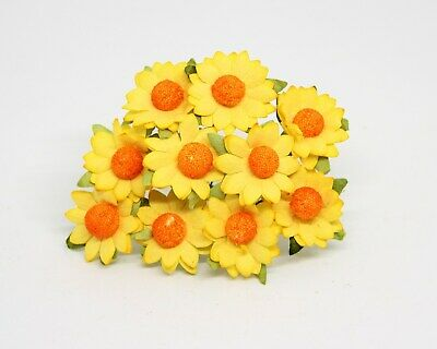 10 Mulberry Paper Daisies Small Yellow Daisy Flowers  • 2.95£