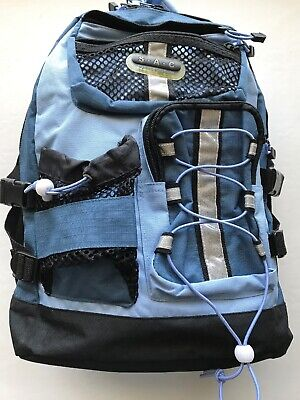 $16.75 • Buy S-A-C Backpack Padded Straps Back To School Travel Carry On Hiking POCKETS Blue