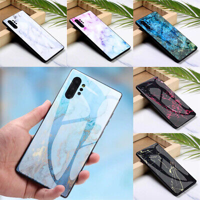 $ CDN5.41 • Buy For Samsung Galaxy Note 20 Ultra 10Plus 9 8 Marble Tempered Glass Hard Case Skin