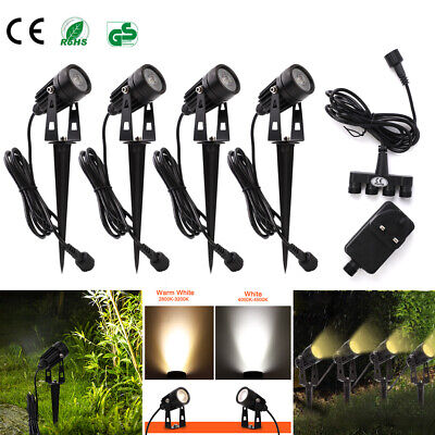 1/4/6/8pc Garden Spotlight COB LED Outdoor Spike Lights Path Yard Landscape Lamp • 9.99£