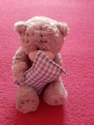 £3 • Buy ME TO YOU BEAR With Fabric Nose Holding A Blue Gingham Pillow