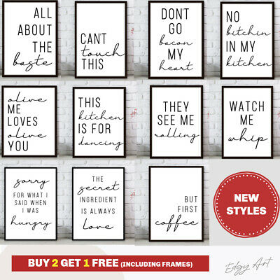Kitchen Minimalist Wall Art Poster Prints.Quality Matching Home Picture Quote • 5.49£