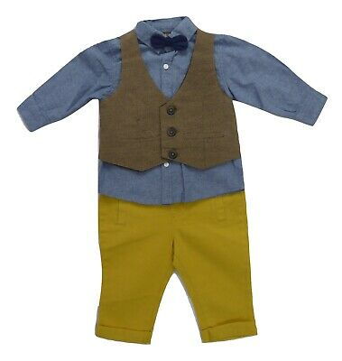£15 • Buy Little Gent Waistcoat Outfit, Shirt, Bow Tie, Trousers And Waistcoat