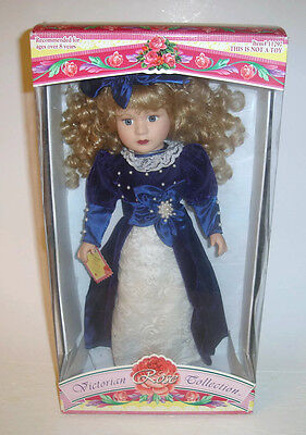 $ CDN19.99 • Buy Victorian Rose Collection Porcelain Doll By Melissa Jane 1997 Ltd Ed #11297