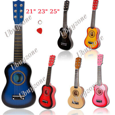21  23  25  Inch Kids Wooden Acoustic Guitar Children Toy Gift W/Pick 6 Strings • 15.99£