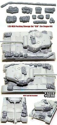 $17 • Buy 1/35 Scale M26 Pershing Stowage Kit (For Dragon Kit) - Value Gear Resin  D26