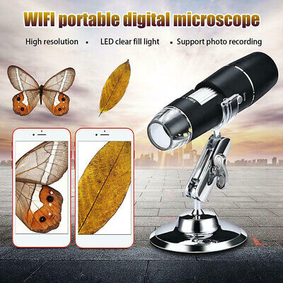 1000X WIFI Digital Microscope Magnifier Camera 8LED+Stand For Android IOS IPhZB • 13.23£