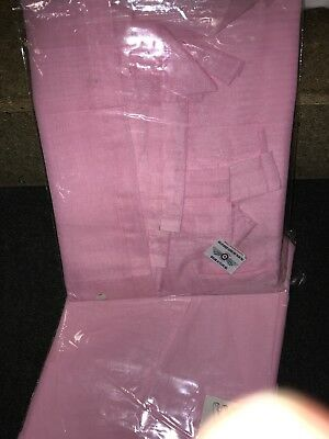 "PINK VOILE CURTAIN 1 Voile Panel Tab Top Heading 58"" Wide X 72"" Drop • 8.99£"
