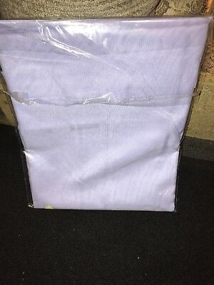 "LILAC VOILE CURTAIN 1 Voile Panel Tab Top Heading 59"" Wide X 54"" Drop • 8.50£"