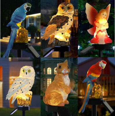 £10.99 • Buy Solar Powered Garden LED Lights Owl Animal Pixie Lawn Ornament Waterproof Lamp