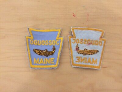 $ CDN5 • Buy Vintage Maine Fishing Patch, Oquossoc,new Old Stock 1970's