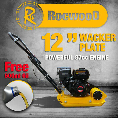 Petrol Wacker Plate Compactor Compaction RocwooD 12  5HP 79cc Engine Free Oil • 319£