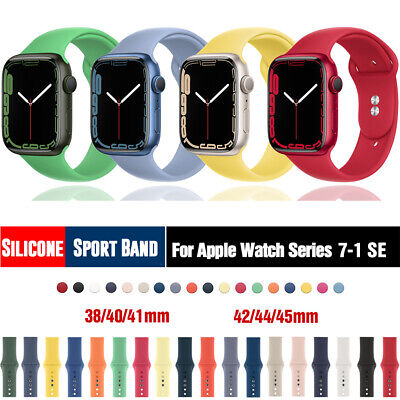 $ CDN5.02 • Buy 38/42/40/44mm Silicone Sport Band IWatch Strap For Apple Watch Series 6 5 4 3 SE