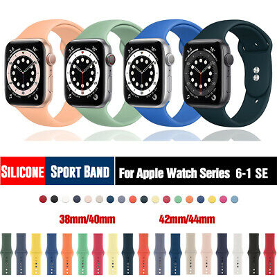 $ CDN5.29 • Buy 38/42/40/44mm Silicone Sports Band IWatch Strap For Apple Watch Series 5 4 3 2 1