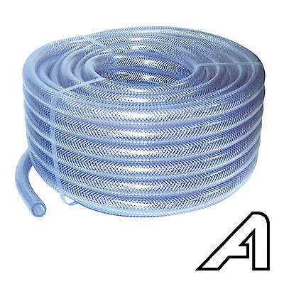 £1.63 • Buy PVC Fibre Braided Reinforced Tube Clear Plastic Hose Pipe