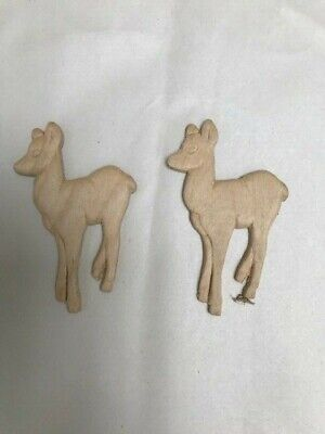 $10 • Buy Carved Applique Decorative Wood Craft Deer Us Shipped