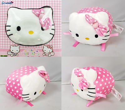 Infant Girl Hello Kitty Soft Rolling Ball Bell Rattle Sensory Play Toy Pink Dots • 5.95£