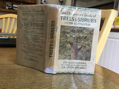 £19.99 • Buy Observers Book Of Trees & Shrubs 1st Edition 1938: