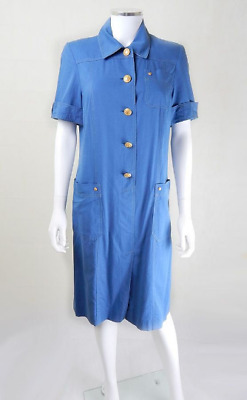AU374.37 • Buy 1970s Vintage Givenchy Nautical Shirt Dress UK Size 12 Vintage Clothing