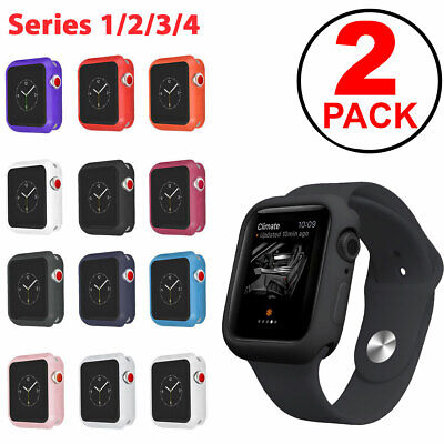 $ CDN5.34 • Buy 2-PACK TPU Bumper Soft Case For Apple Watch Series 1 2 3 4 38mm 40mm 42mm 44mm