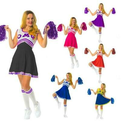 £8.99 • Buy  High School  Fancy Dress Costume Outfit With Pom Pom's Musical Girls