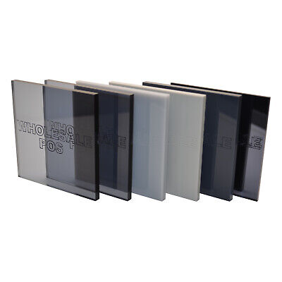 Grey Colour, Tinted & Mirror Perspex® Acrylic Plastic Sheets - Various Thickness • 60.52£