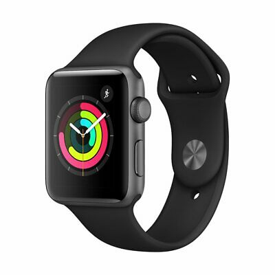 $ CDN453.99 • Buy New Sealed Apple Watch S3 GPS 42mm Space Gray Aluminum Case Black Sport Band