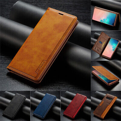 $ CDN8.76 • Buy Leather Case For Samsung Note 20 S20 S10 S9 Plus Flip Magnetic Card Stand Cover