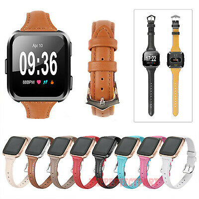 $ CDN11.21 • Buy For Fitbit Versa / Lite Genuine Leather Watch Band Strap Replacement Bracelet