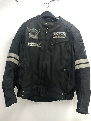 """Street & Steel """"Ride The Life"""" Black Motorcycle Jacket  Size Men's M No Lining • 49.77$"""