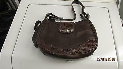 $4.99 • Buy Nice Brown Leather M C Purse Hand Bag With Cell Phone Holder
