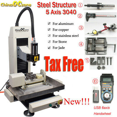 $ CDN7364.57 • Buy Newest CNC 5axis 2.2KW 3040 Steel Metal Router Engraving Milling/Cutting Machine