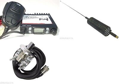 Moonraker Micro CB Radio Kit AM FM UK EU 80 Channel  Mirror Mount And Springer • 79.99£