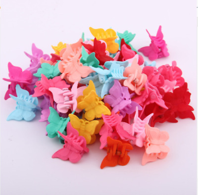 $1.06 • Buy 20 Packs Assorted Color Butterfly Hair Clips Women Girls Beautiful Mini New