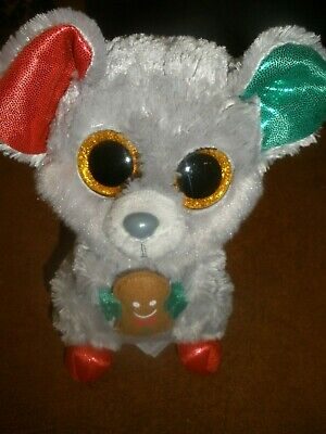 """2018 Exclusive Ty Beanie Boos NEW MWMT FROST the Christmas Polar Bear 6/"""""""